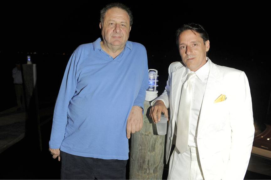 Marc Newson & André Balazs Toast the First US Sea Launch of The Aquariva by Marc Newson with Dom Pérignon