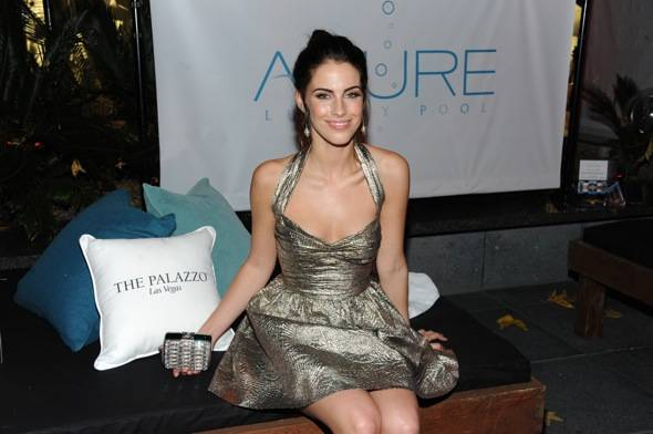 Jessica Lowndes in the Azure lounge at The Palazzo transforms the Hollywood Style Awards