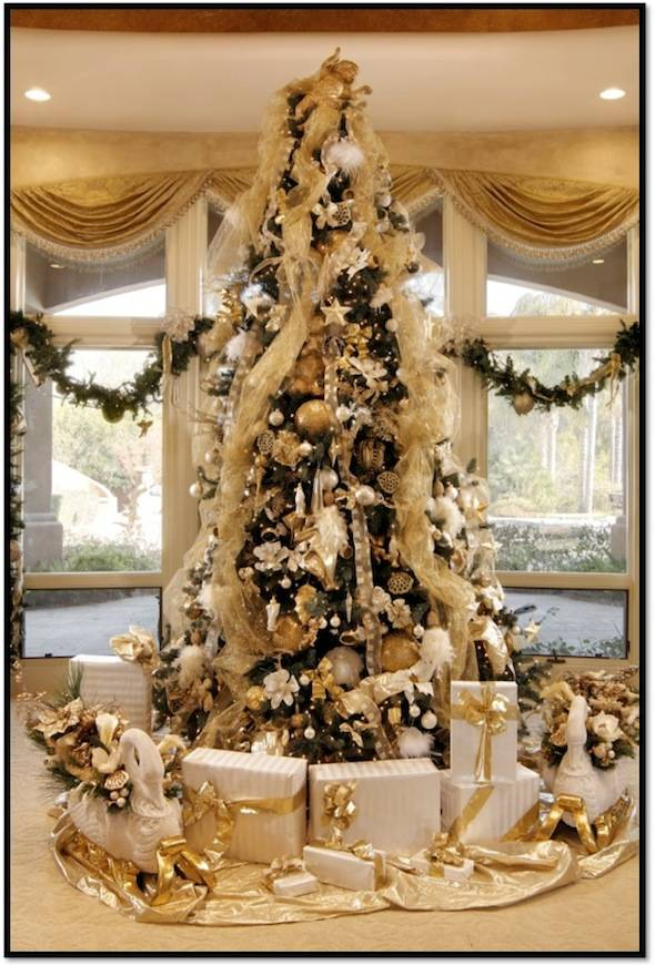 luxury christmas tree - How To Decorate A Designer Christmas Tree