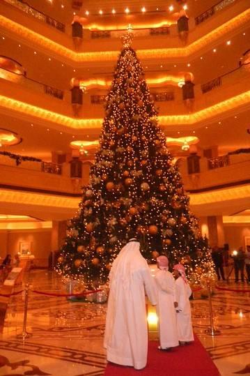Emirates Palace Christmas Tree via WSJ
