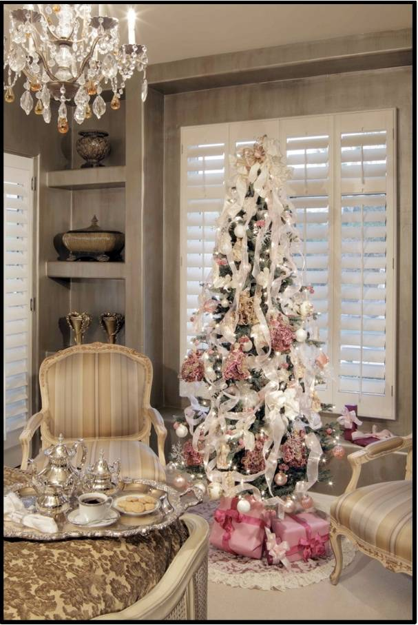 pink luxury christmas tree