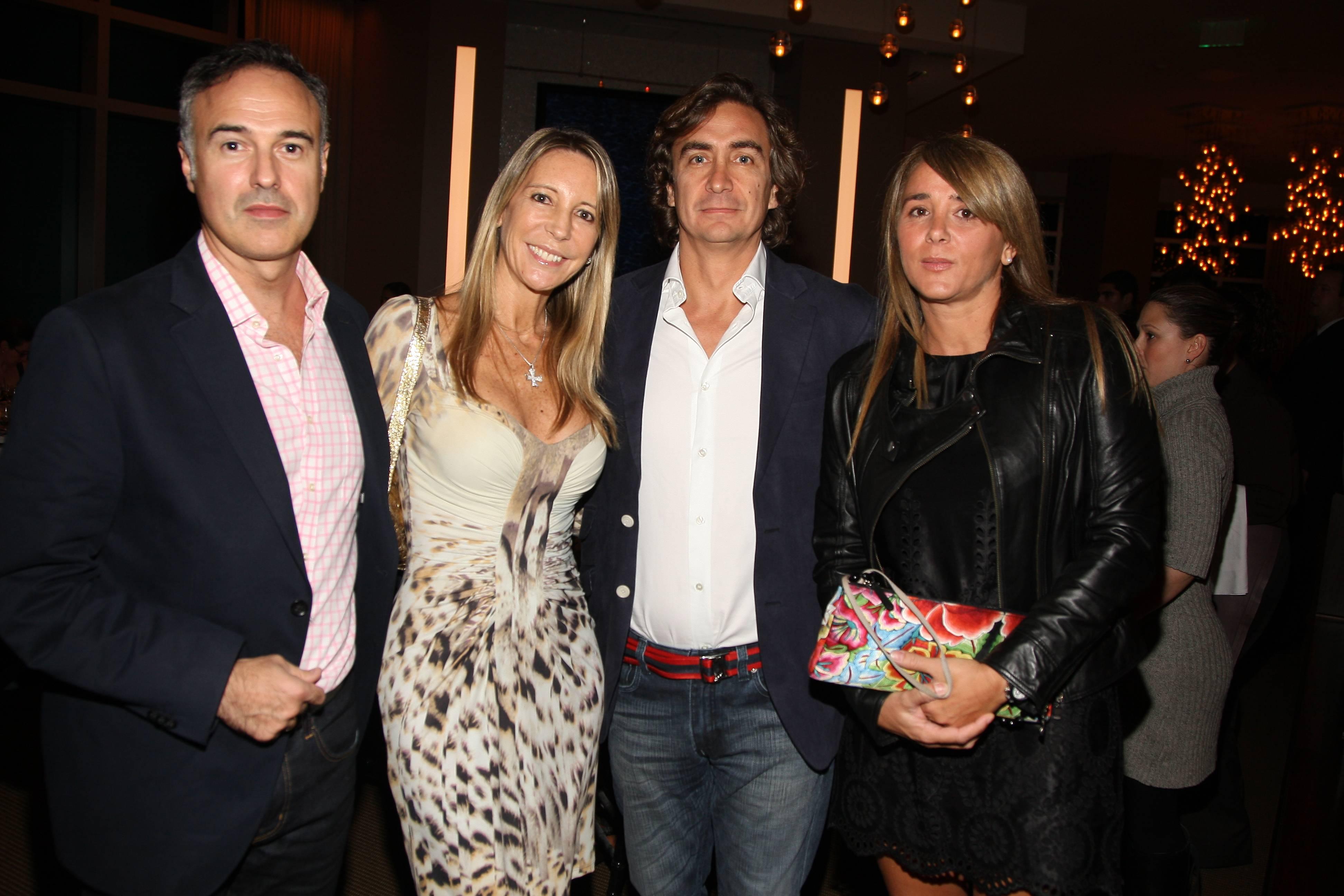 Santiago and Yuliette Ulloa, Alfonso Lanceros, Monica Feragout (1)