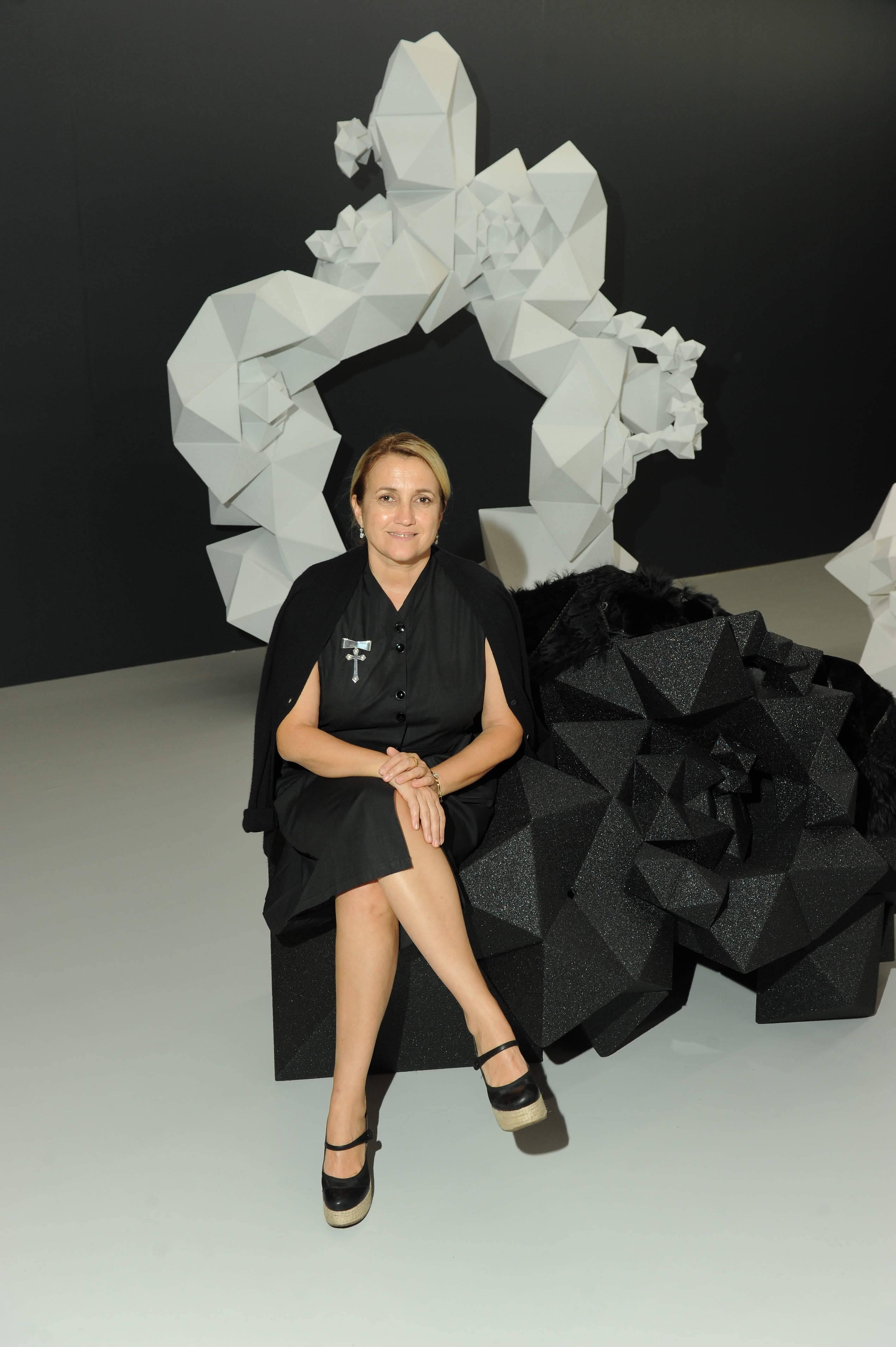 Silvia Venturini Fendi in the FENDI Aranda Lasch space at Design Miami _December 2010_1