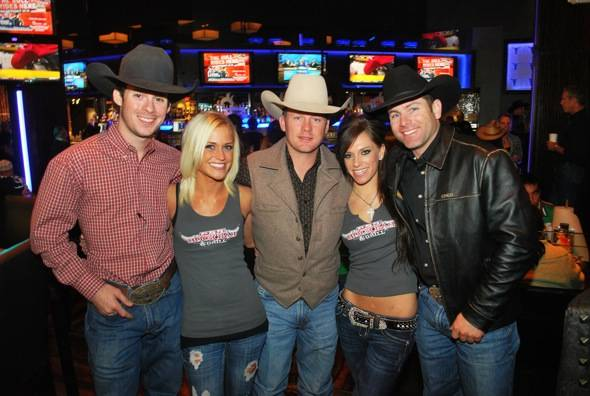 Synder, Shivers and Clark with PBR Girls