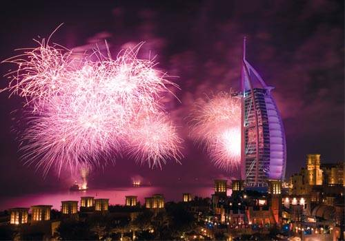 New Years Fireworks Burj Al Arab