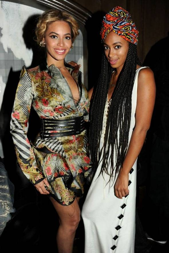 Beyonce and Solange Knowles Grand Opening of Marquee LV at The Cosmopolitan. Credit Seth BrowarnikWorldRedEye.com