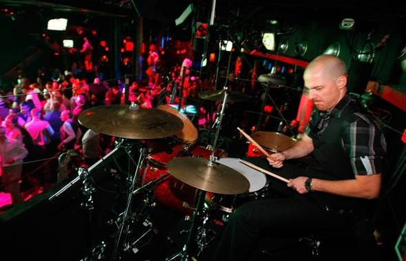 Christopher Wight on drums at Electric Dream, Studio 54, Dec. 31, 2010