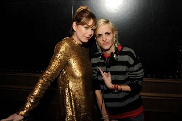 Ellen Pompeo and Samantha Ronson Grand Opening of Marquee LV at The Cosmopolitan. Credit Seth BrowarnikWorldRedEye.com