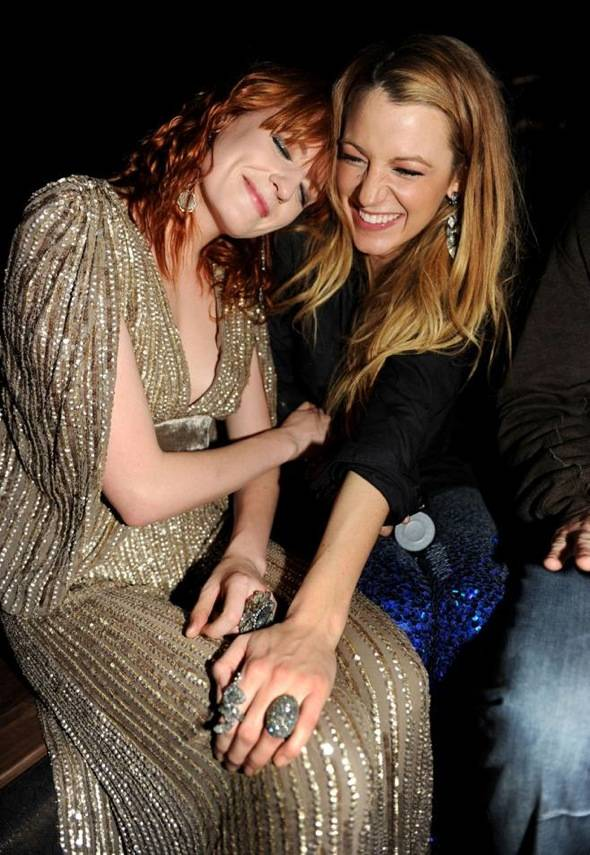 Florence Welch and Blake Lively Grand Opening of Marquee LV at The Cosmopolitan. Credit Seth BrowarnikWorldRedEye.com
