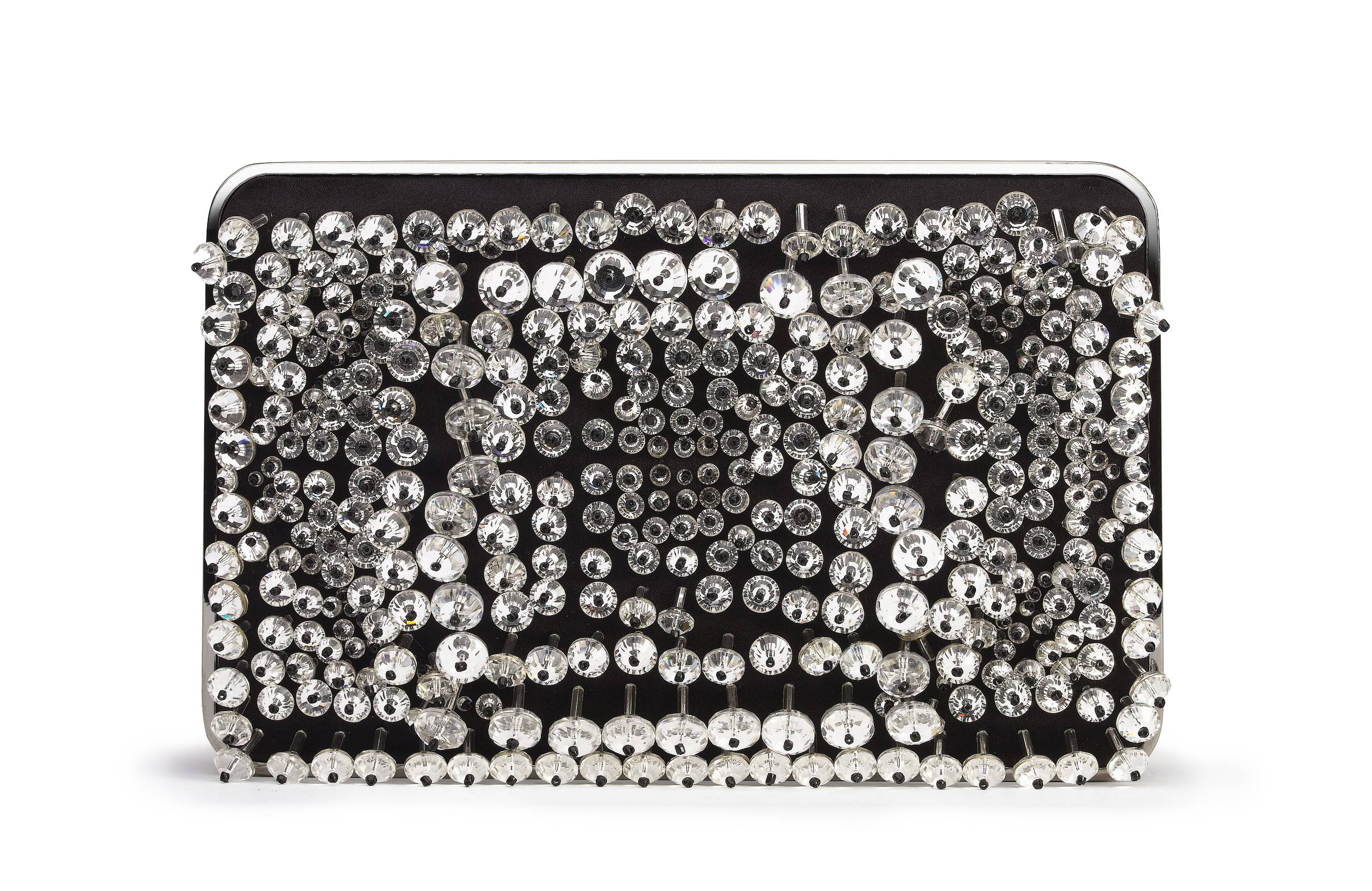 Frame Crystal clutch