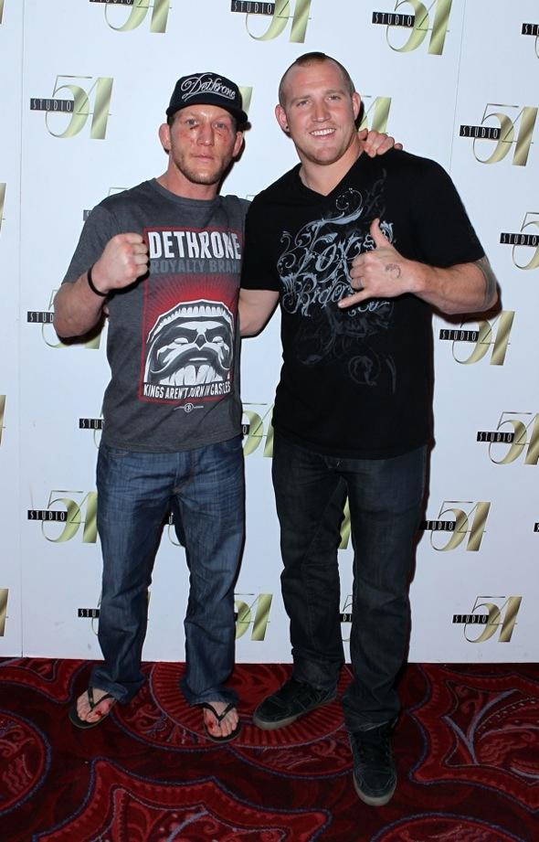 Gray Maynard and Rusty Malinoski at Studio 54 Las Vegas, 1.1.11