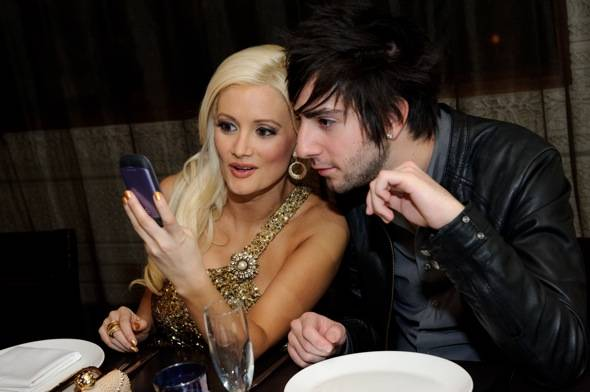 Holly Madison and boyfriend Jack Barakat at Lavo Restaurant Las Vegas photo credit Al Powers