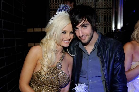 Holly Madison and boyfriend Jack Barakat lounging at Lavo Las Vegas photo credit Al Powers