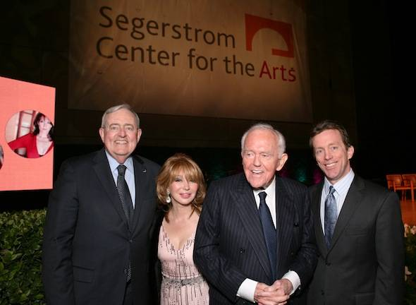 Center Board Chairman Tom McKernan, Elizabeth and Henry Segerstrom, and Center President Terry Dwyer at the renaming ceremony