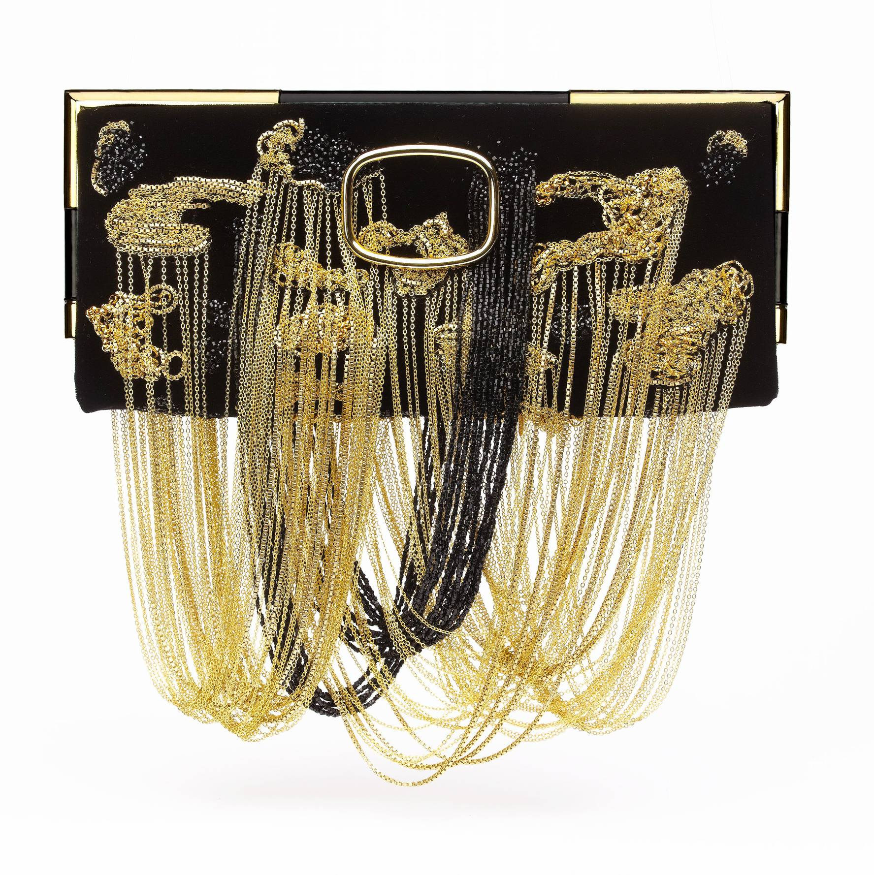 Miss Viv Chain Panther clutch