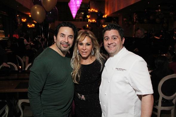 Paul, Adrienne and Nove Executive Chef Geno Bernardo