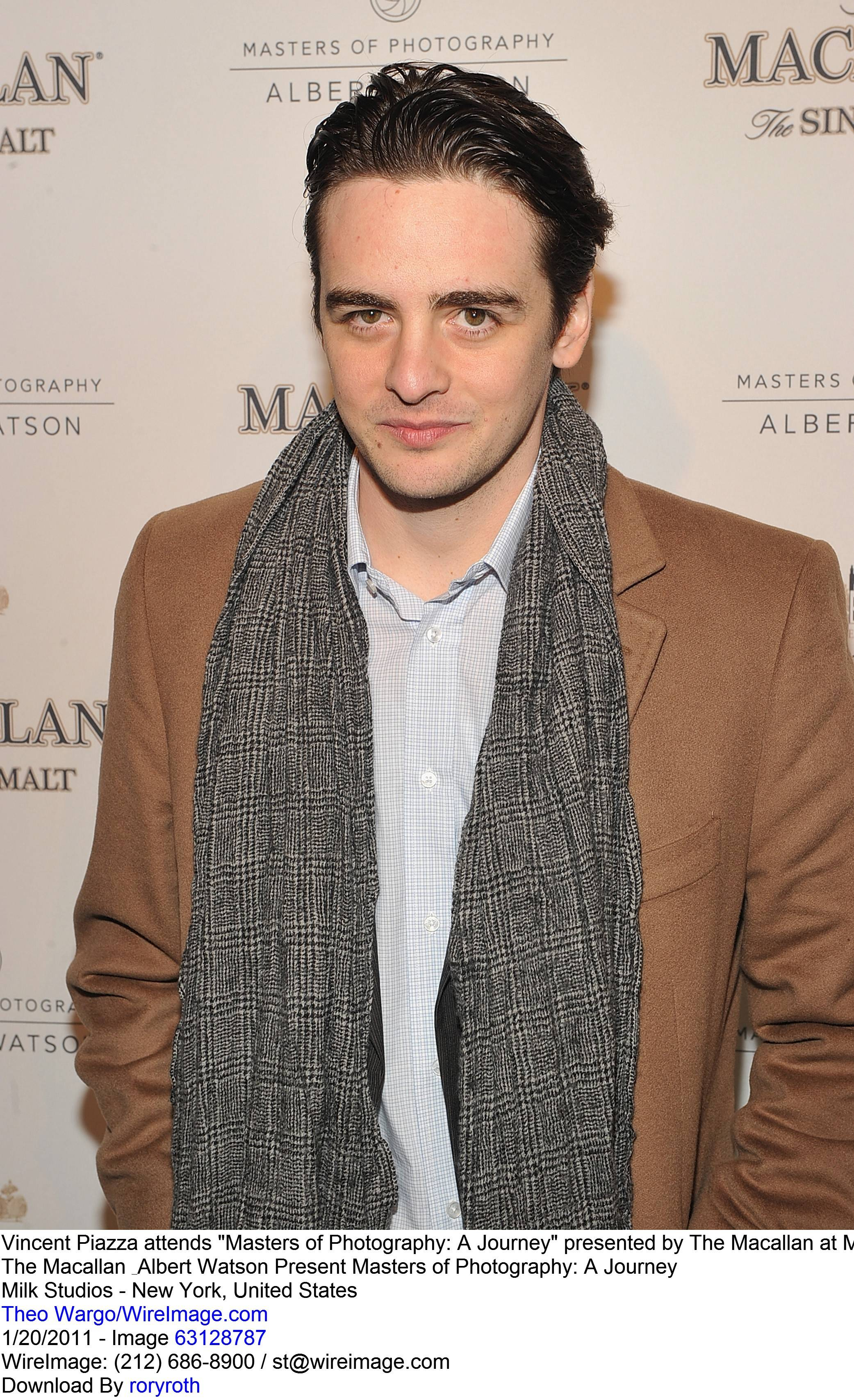 """Vincent Piazza attends """"Masters of Photography: A Journey"""" presented by The Macallan at Milk Studios on January 20, 2011 in New York City."""