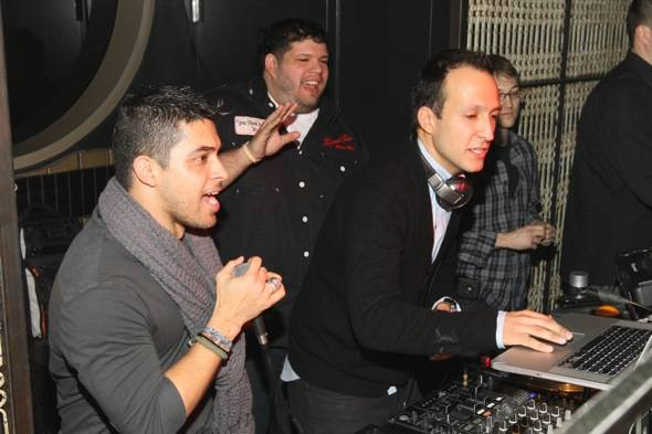 Wilmer Valderrama and DJ Vice at Lavo