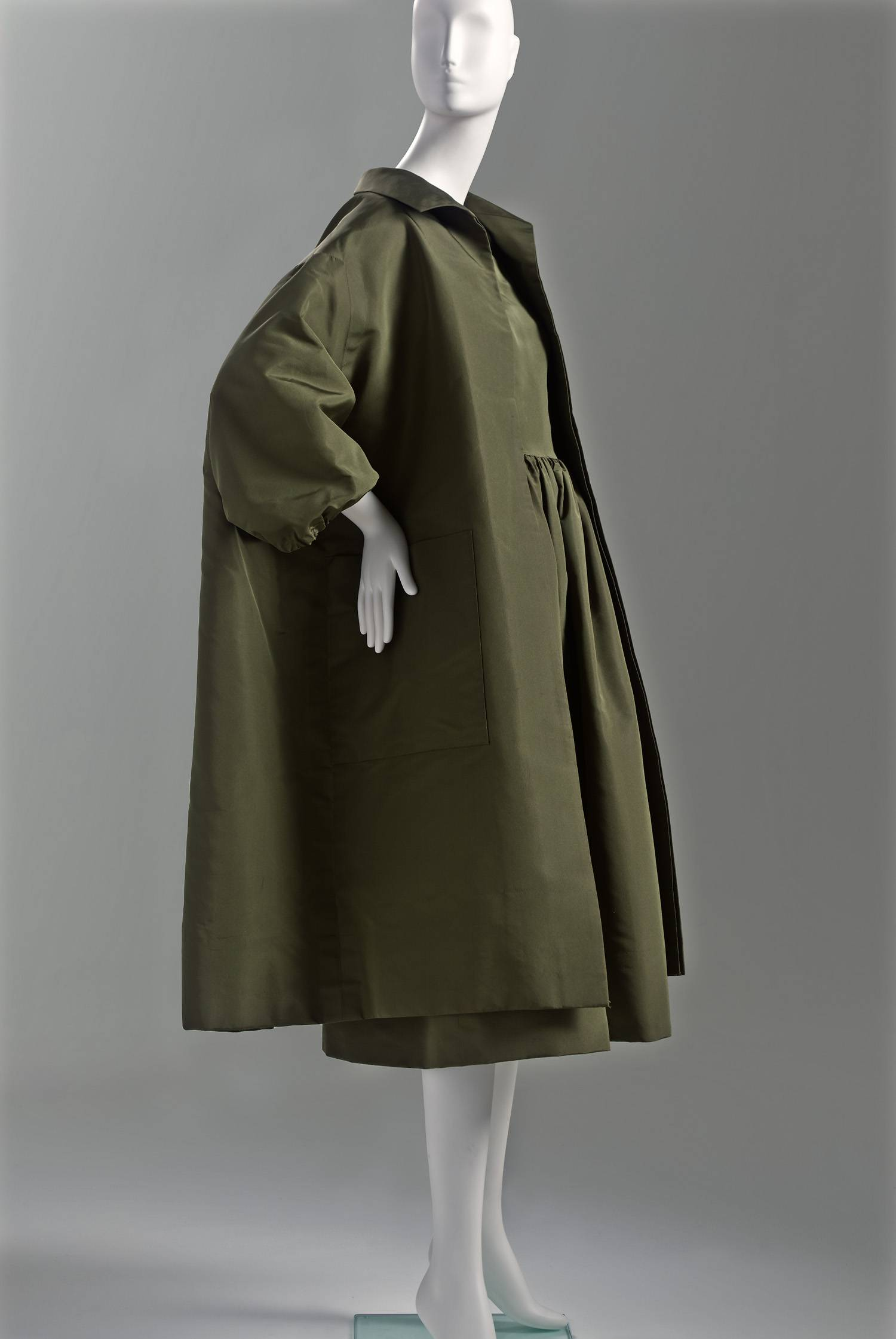 Balenciaga Coat Olive Green