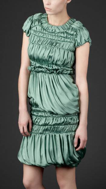 Burberry-Spring-Summer-2011-Silk-Satin-Shift-Dress