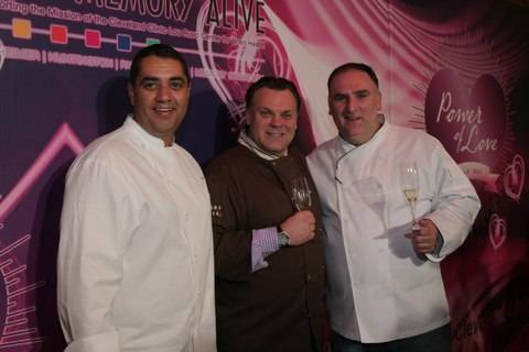 Chefs Michael Mina, Francois Payard and Jose Andres at Keep Memory Alive Power of Love Gala_2_26_11