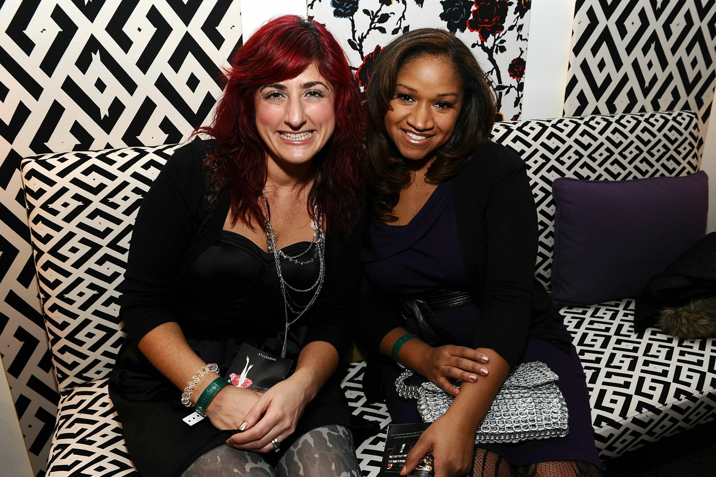 Kristen Del Ferraro and Valerie Coles inside star lounge