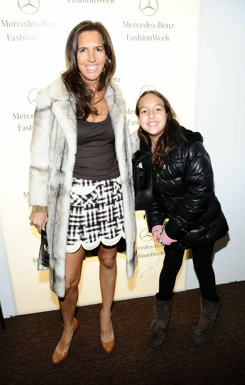 Liz Lange and Alice Lange inside star lounge