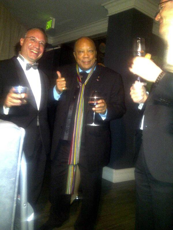 Quincy Jones at Jamie Foxx grammy party