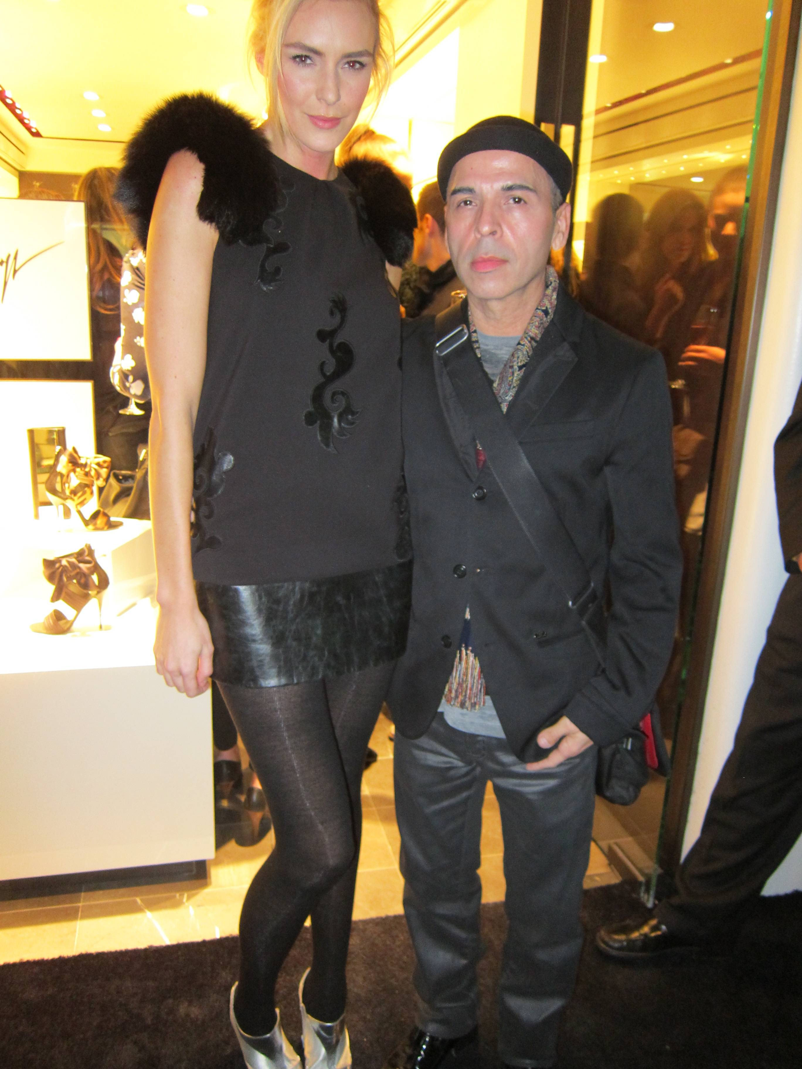 Model Holly Ridings and Designer Louis Verdad