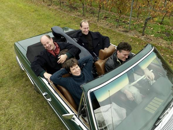 Mandelring Quartett 0079 im Auto (c) Ralf Ziegler