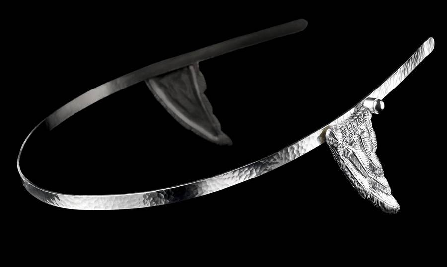 Mercury hairband silver
