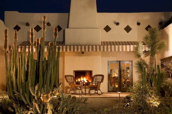 The Wigwam's Outdoor Fireplace