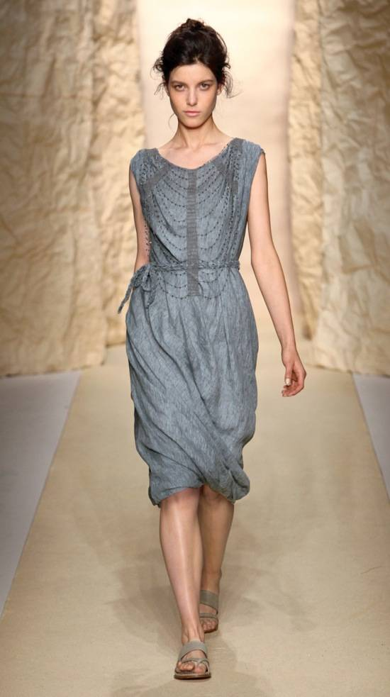 Shirley Ephraim for Donna Karan Crystal and Silk Lace Armor Necklace in -Old Indigo- Runway