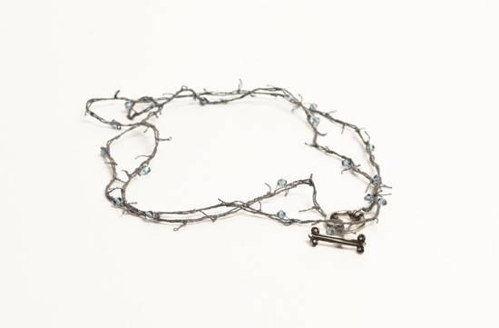 Shirley Ephraim for Donna Karan  Hand Distressed Silk Crochet Chain Lariat