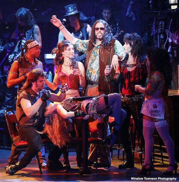 The Touring Cast of ROCK OF AGES (c) Winslow Townson