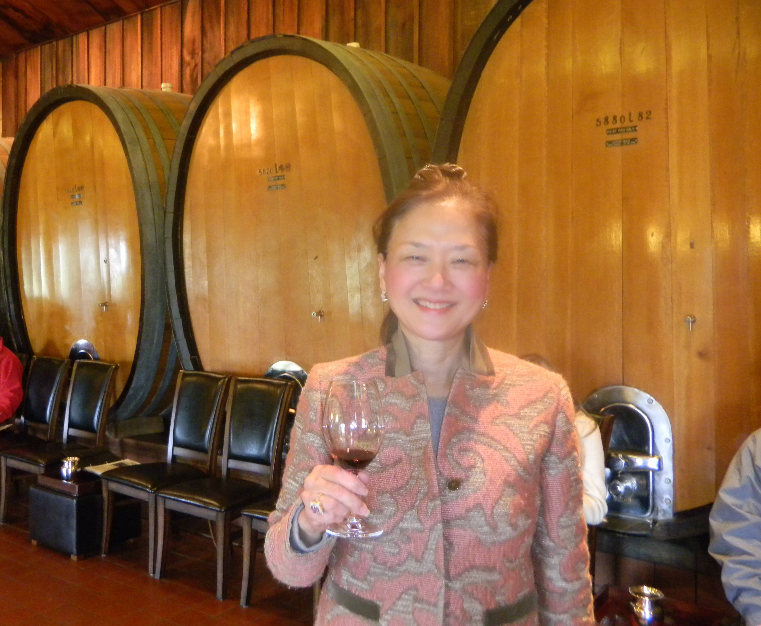 wine tasting at joseph phelps winery
