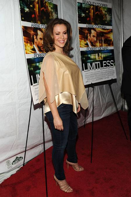 Actress Alyssa Milano attends Relativity Media's world premiere of