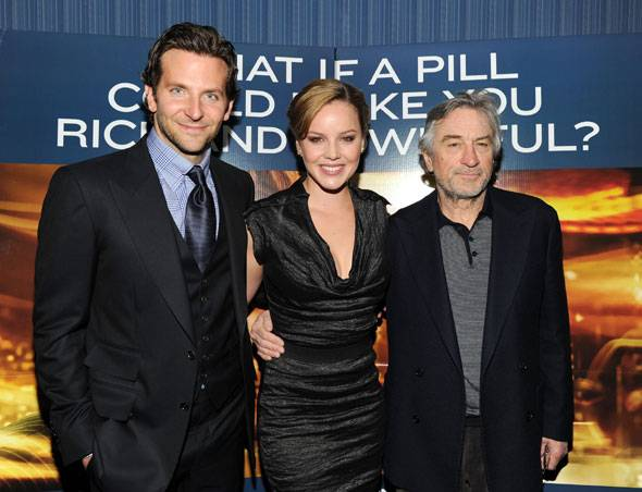 Actors Bradley Cooper, Abbie Cornish and Robert De Niro attend Relativity Media's world premiere of