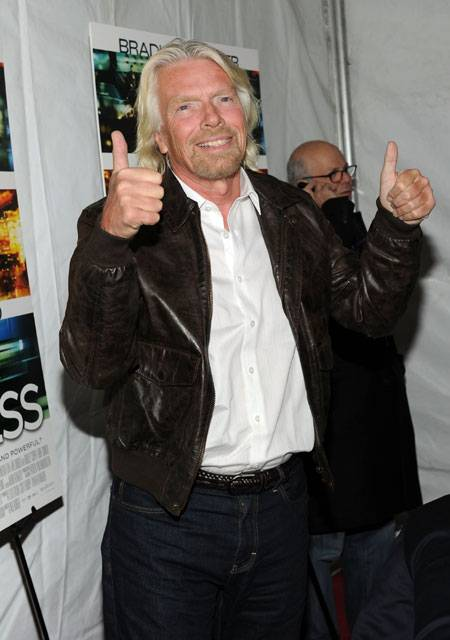 Sir Richard Branson attends Relativity Media's world premiere of