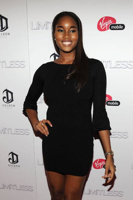 Model Damaris Lewis attends Relativity Media's world premiere of