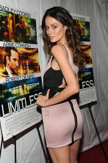 Model Nicole Trunfio attends Relativity Media's world premiere of