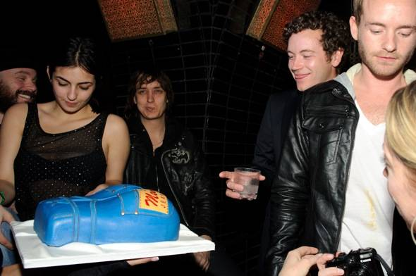 Alanna Masterson, Julian Casablancas, Danny Masterson and Chris Masterson at LAVO LV