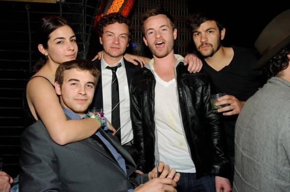Alanna, Will, Danny, Chris and Jordan Masterson celebrate Danny Masterson's birthday at LAVO LV