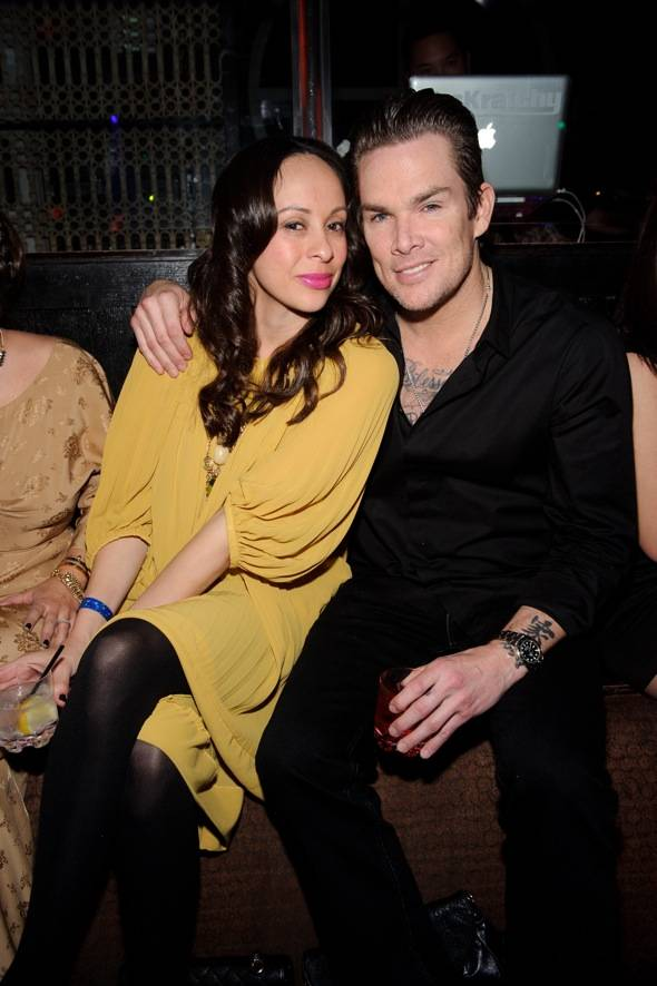 Carin Kingsland and Mark McGrath at LAVO LV