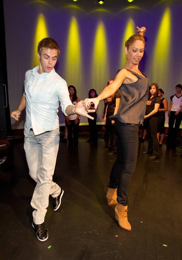 Haute Event Derek Hough Teaches A Dance Class And Hines Ward