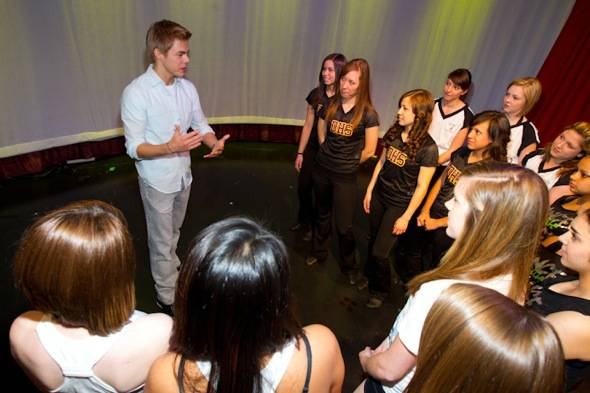 Derek Hough and CCSD Dance Students