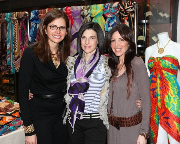 Desiree Gruber, Jessica Seinfeld, Stefani Greenfield Theodora & Callum event benefitting Baby Buggy