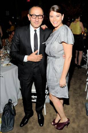 Designer Gilles Mendel and Top Chef Judge Gail Simmons at the 3rd Annual Blossom Ball