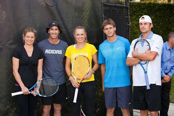 Kim-Clijsters,-Darren-Cahill,-Caroline-Wozniacki,-Ryan-Harrison,-Andy-Roddick