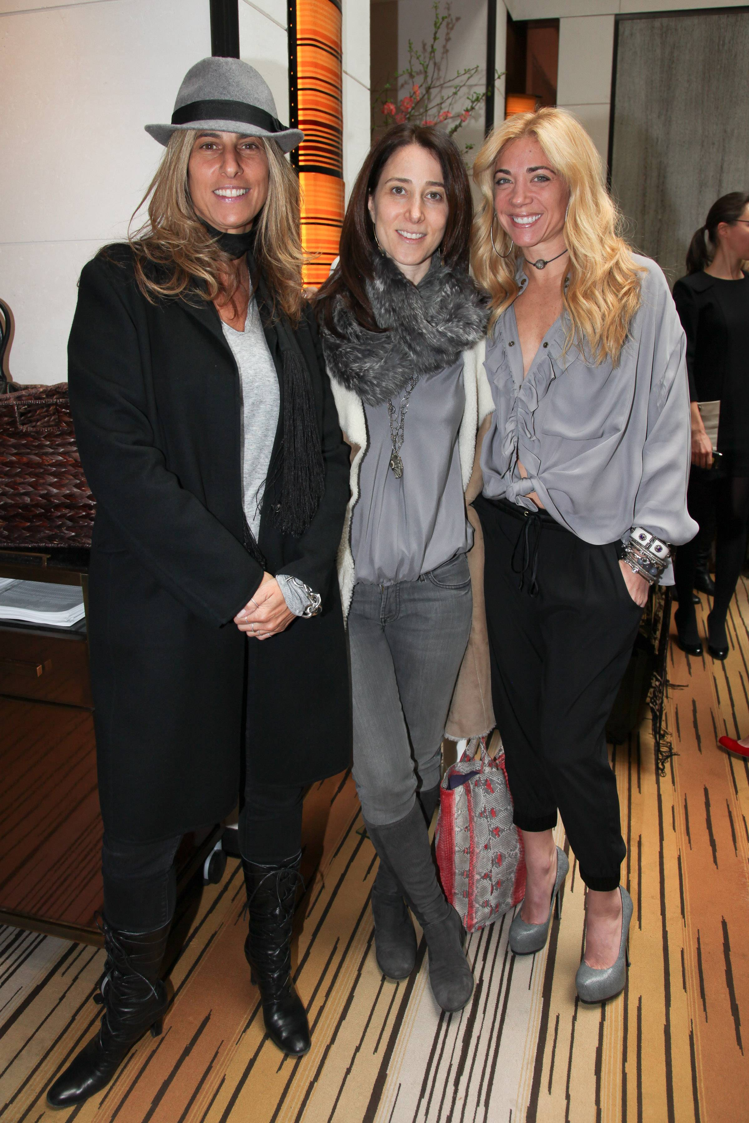 Kris Fuchs, Stacey Bronfman, Ramy Sharp    Theodora & Callum event benefitting Baby Buggy